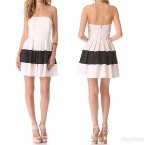 Rachel Zoe Margaret Colorblock Strapless Dress 6